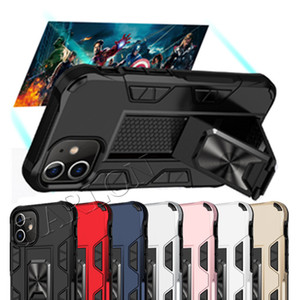 New Hybrid Armor Invisible Kickstand Magnetic Phone Case Shockproof Cover For IPhone 12 Mini 12pro 11 Pro Max XR XS 8 7 6s Plus LG Stylo 6