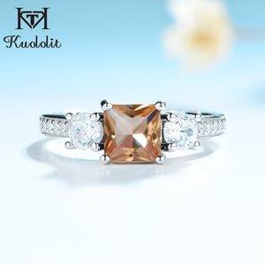Düğün Güzel Takı Q1113 için Kadınlar Katı 925 Gümüş Takı Yarım boy Ring için Kuololit Diyaspor sultanit Taş Yüzük