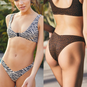 Sexy Bikinis Push Up Swimwear Women Swimsuits Bikini Set Floral Print Swim Wear Strap Bathing Suit