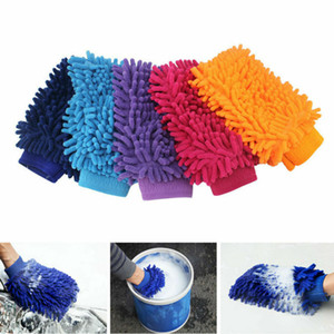 Single Side Gloves Super Mitt Microfiber Car Wash Gloves Washing Cleaning Anti Scratch Car Washer Household Care Brush DHL Free Shipping