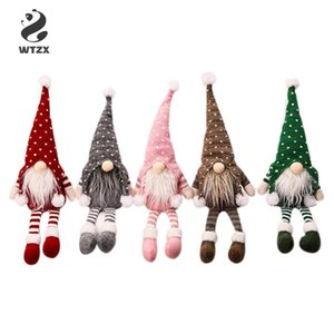 Doll Pendant Christmas Decorations Nordic Style Christmas Decorations Forester Knitted Long-legged Doll Window Decoration