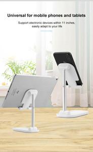 Lo nuevo sostenedor del soporte de teléfono de escritorio universal móvil para iPhone iPad ajustable soporte del sostenedor del teléfono celular del metal de la tableta de tabla plegable