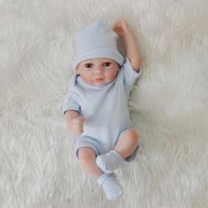 Bebe Reborn Child Body Lol Silicone Full Babies Imitation Realistic Reborn Baby Gifts Toys Dolls For Boy Soft Boys 28CM Vvwni
