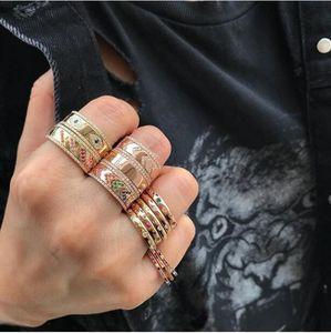 Atacado gravado Cz Mal Olho do ouro Grande anéis de noivado da banda para Lady Mulheres presente partido Dedo Jóias antigo clássico Anel