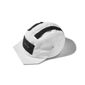 Pupil Viaggio PT-822 Techwear Low Profilo Strapback non strutturato impermeabile Baseball Cappellino Hip Hop Style Punk Streetwear Hat1