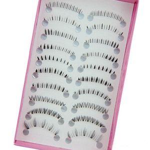 10 Pairs Pro Makeup Different Style Lower Under Bottom Eye Lashes Extension False Eyelashes Tools