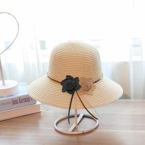 Jiangxihuitian 2018 소매 5 색 여름 여성 꽃 단순 물결 모양의 대형 넘어 오네 밀짚 모자 여자 비치 모자 wmtAhM의 xhlove