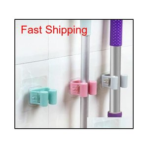 Wall Mounted Mop Holder Brush Broom Hanger Storage Rack Kitchen Organizer With Mounted Accessory Hangin qylNLF yh_pack