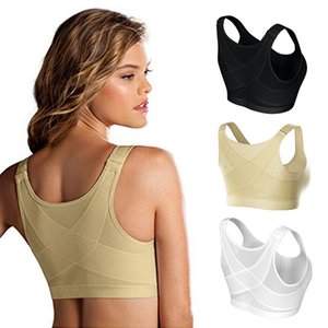 Posture Corrector Lift Up Bra Women Cross Back Breathable Comfortable Underwear Shockproof Sport Support Fitness Bras S-5XL