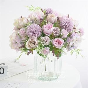 العروس عقد الورود باقة الزفاف الزخرفية الزهور المزهريات للمنزل اكسسوارات الديكور الزهور الاصطناعي لسكرابوكينغ 126 G2