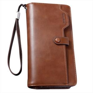 Top 2019 Wallets Vintage Men Leather Brand Wallet Short Slim Male Purses Money Clip Credit Card bag Drop ship