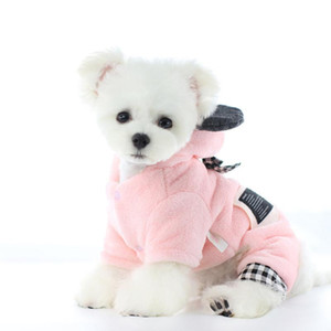 Winter Dog Pets Clothing Thicken Warm Dog Coat Jacket Jumpsuit Doggie Puppy Yorkshire Pomeranian Clothes Poodle Schnauzer Outfit