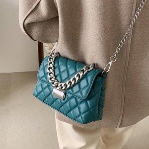 Lattice Square Tote Bag 2021 Fashion New High-quality PU Leather Women's Designer Handbag Chain Shoulder Messenger Bag Purses Ubuqk