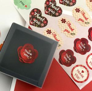 500pcs Coração vermelho do amor agradece-lhe etiqueta Gift Bag Selo Etiqueta fotografia Diário Stationary Deco álbum de figurinhas Scrapbooking qyluLx mywjqq