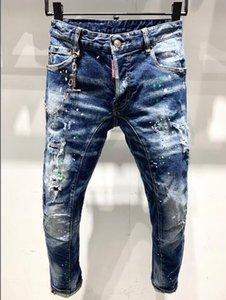 Dsenqi New Women / Men Jeans strappati per Jeans Pants Biker Outwear Man Pants A232