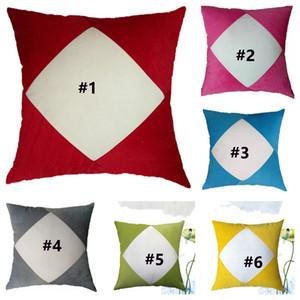 Sublimation Blanks Pillowcase Heat Transfer Printing Pillow Covers White Plain Pleuche Pillow Cushion Patchwork Plush Pillow Covers G11207