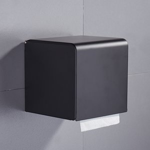 Black Paper Tissue Caja de papel Tenedor de papel Rollo de papel Montado en la pared Titular de papel higiénico Accesorios de rack Soporte de tejido Caja de mar Barco de mar GWB4742