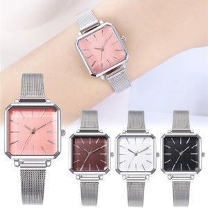 orologio quadrati in lega analogico delle donne smart watch Festival maglia con quarzo vigilanza del regalo NUOVO