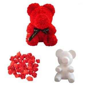 1 шт. Розовый плюшевый медвежонок Моделирование полистирол пенопластовые пены для пены на день Святого Валентина подарки день рождения свадебные украшения1