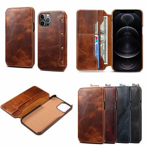 for Iphone 12 Business Case Retro Flip Leather Wallet Phone Case for Iphone 6 7 8plus X Xs Max 11 11Pro 12 mini Samsung S20 Note 20