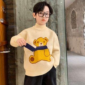 Suéter de New Boys Otoño Pullover 2020 Peluche y espesado Cuhk Fashion Fashion Winter Cloth Boys FQ88