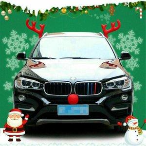Ciervos de reno nariz de los ciervos de los ciervos para el automóvil AutoTruck SUV de la decoración de la Navidad de los accesorios de la decoración del hogar1
