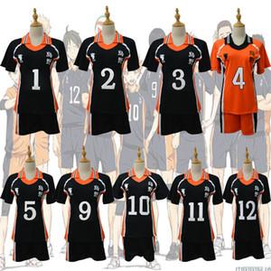 9 stili Haikyuu Cosplay Karasuno Liceo Volleyball Club Hinata Shyouyou Sportswear Maglie Uniforme