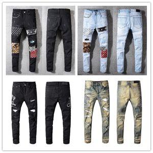 2021 Fashion Skinny Mens Jeans Dritto Slim Elastico Jean Uomini Casual Biker maschile Stretch Denim Pantaloni classici Pantaloni classici Jeans Amir I Dimensione 28-40
