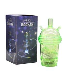 NEW acrylic Hookah dark beaker bong Water Pipe Colorful acrylic Bong Dab rig shiasha hookah portable GGB2382