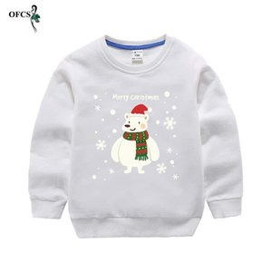 Children's Christmas sweater Autumn Teenagers Clothes Boy And Girl Cartoon print Long sleeve T-shirt Baby Casual cotton pullover