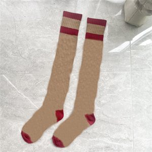 Большие буквы женщины вязаный носок утолщенные теплые мягкие женские Длинные чулки девушки милые буквы на коленные носки
