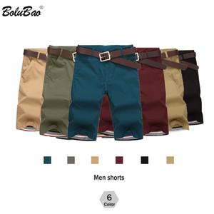 BOLUBAO Brand Men Shorts New Summer Mens Fashion Solid Color Casual Shorts Male Bermuda Shorts( No Belt) 201014