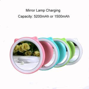 1500mAh Lámpara de espejo Power Bank Cargador universal para iPhone X Teléfono Móvil Portátil Batería externa Buena Quanity Forma redonda Power Banks