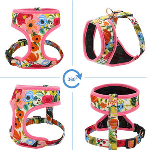 Cute Printed Chihuahua French Bulldog Harness Adjustable Puppy Cat Harness Pet Small Dog Vest For Pug Yorkie Walking bbyuVe