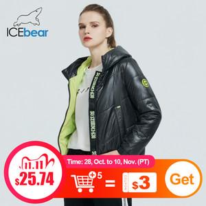 Yüksek kaliteli kapüşonlu Marka giyim GWC20067I 201.105 parka icebear Kadınlar Bahar Ceket moda kadın