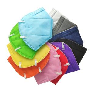 Máscara de cara Fábrica 95% Filtro Máscara colorida Activada Carbón Respirador Respirador 5 Capa Diseñador Mascarilla Cara 11 Colores