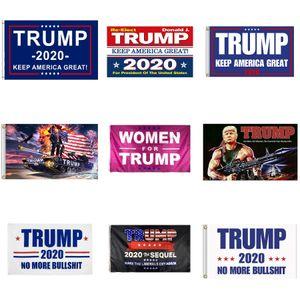 11 Styles Trump 2020 Flag 90*150cm Keep America Great Presidential Election Banner Printed Trump Polyester Flag Banner DDA698