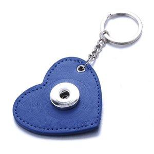 Nouveau boutonnage en cuir Bouton Snap Keychains DIY 18mm Snap KeyRing Lanyard Porte-clés Cinkchain Fit 18mm 20mm Boutons Snap Bijoux Q Bybykqm