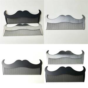 Cepillo de barba de acero inoxidable Color Puro Cabina Cuerno Forma Whisker Combs Masculino Hombres Hombres Herramientas de limpieza Peine Especial 4 5QD N2