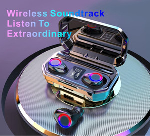 New M12 TWS Wireless Headphones Bluetooth5.0 fone de ouvido HiFi IPX7 fones de ouvido à prova d'água Touch Control fone de ouvido para sportgame