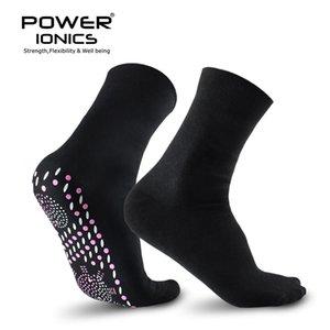 New Power Ionics Ion turmalina infravermelho distante Rays Saúde Self-Calor Cotton Socks Black White Melhorar Corpo circulação sanguínea 201012