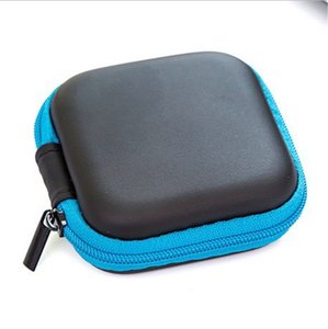 7 Colors Portable Earphone Storage Bag Phone Cable Charger Storage Box Headphone Protective Case Free Shipping DDD4233