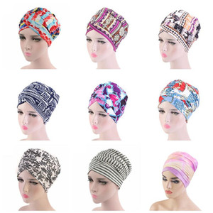 Turban Hat for Women Head Wrap Cap Scarf hats elastic Cotton scarves long tail caps lady Headwrap Headwear african Hair Accessories NEW