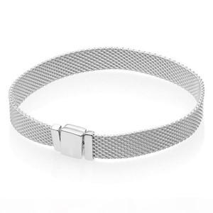 925 Sterling Silver designer Bracelet Woven Mesh Silver Reflexions Bracelets Bangle Fit Women Bead Charm Europe Diy Jewelry C18122801