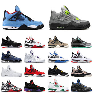 cactus jack mens basketball shoes 4s neon bred 4 cool grey black cat white cement men trainer sports sneakers