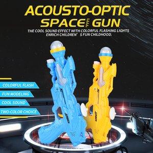 Plástico niños jugar juguete eléctrico del deporte al aire libre Juguete arma del espacio de música de juguete de tiro con flash