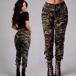 Женские Camo Cargo брюки повседневные длинные брюки военные армии зеленые камуфляжные камуфляжные карандаш брюки Jogger 2019 спортивные штаны плюс размер T200516