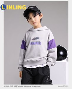 LINLING Fashion Printed Letters Boys Sweatshirt Kids Hoodies Autumn Clothes Long Sleeve Cartoon Top Tees Children Clothing P254 1006