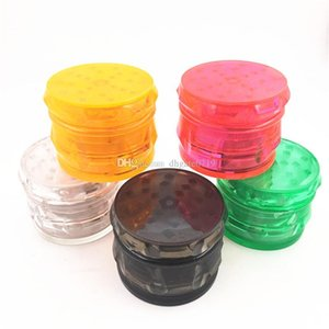 Newest Cheap Plastic RAW herb Grinders Concave smoking tobacco Grinder Diameter 63mm 4layer Shape Chamfer Side grinder