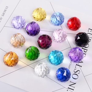 30mm Colorful Crystal Ball Prism Suncatcher crystal Rainbow Pendants Maker Hanging Crystals Prisms for Windows for Gift